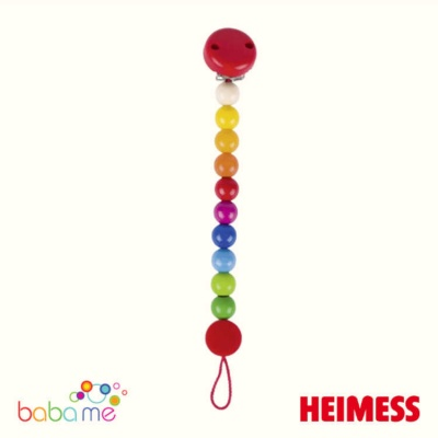 Heimess Soother chain rainbow