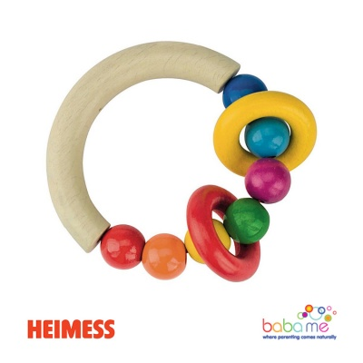 Heimess Touch ring half-round with beads and 2 rings