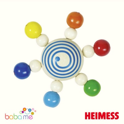 Heimess Touch ring spinning top with pearls