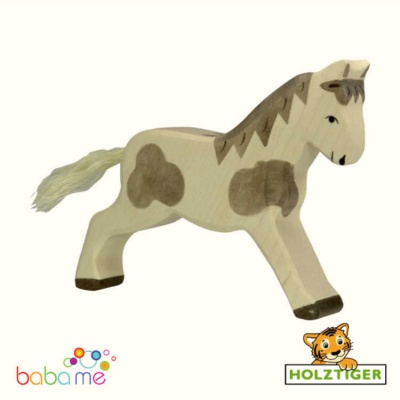 Holztiger Horse running dappled