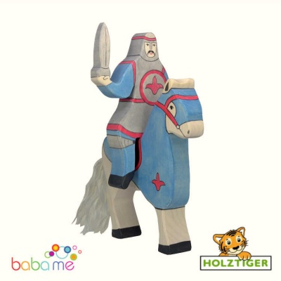 Holztiger Blue knight, without cloak, riding (without horse)