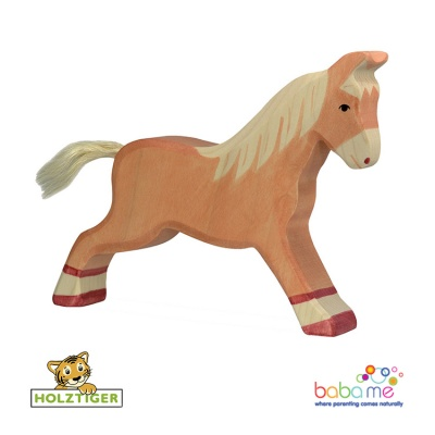 Holztiger horse running light brown