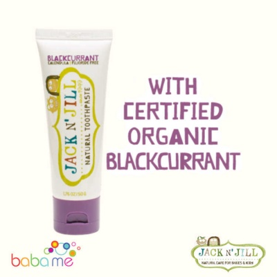 Jack N' Jill Natural Baby Toothpaste Organic Blackcurrant