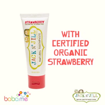 Jack N' Jill Natural Toothpaste Organic Strawberry