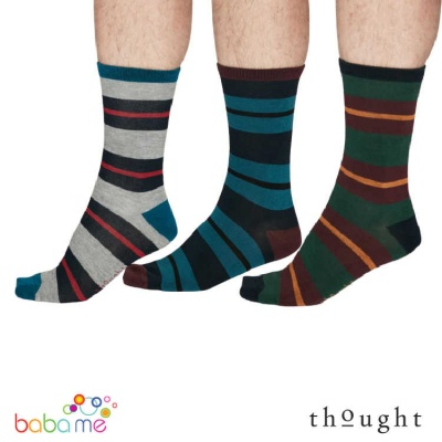 Thought Jacob Rugby Stripe Bamboo Socks