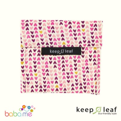 Keep Leaf Large Baggie - Hearts