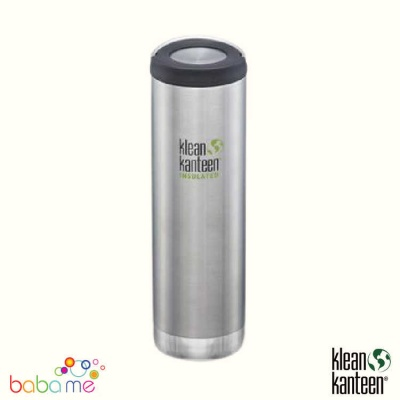 Klean Kanteen Tkwide 20Oz Wide Loop Cap Brushed Stainless