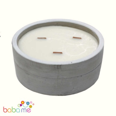 Large Round Soy Candle Patchouli & Dark Amber