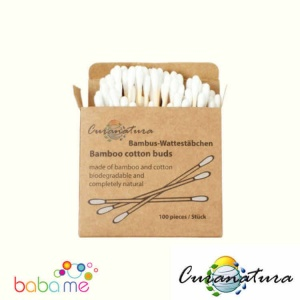 Curanatura Bamboo Cotton Buds - Pack 100