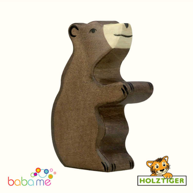 HOLZTIGER Brown bear small sitting