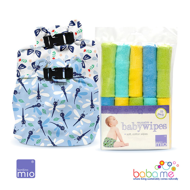 Bambino Mio Washable Wipes Kit