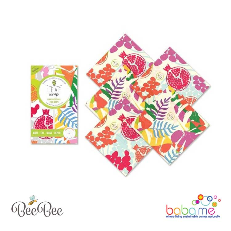 BeeBee Wraps - The Teeny Pack - Tropical Collection - Plant Based / Vegan