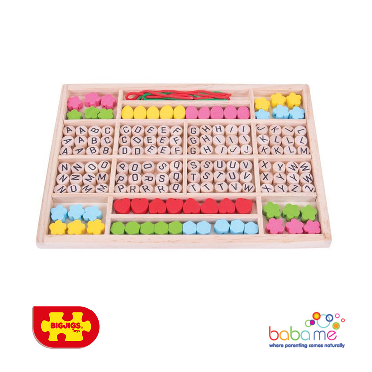 Bigjigs Alphabet Bead Tray