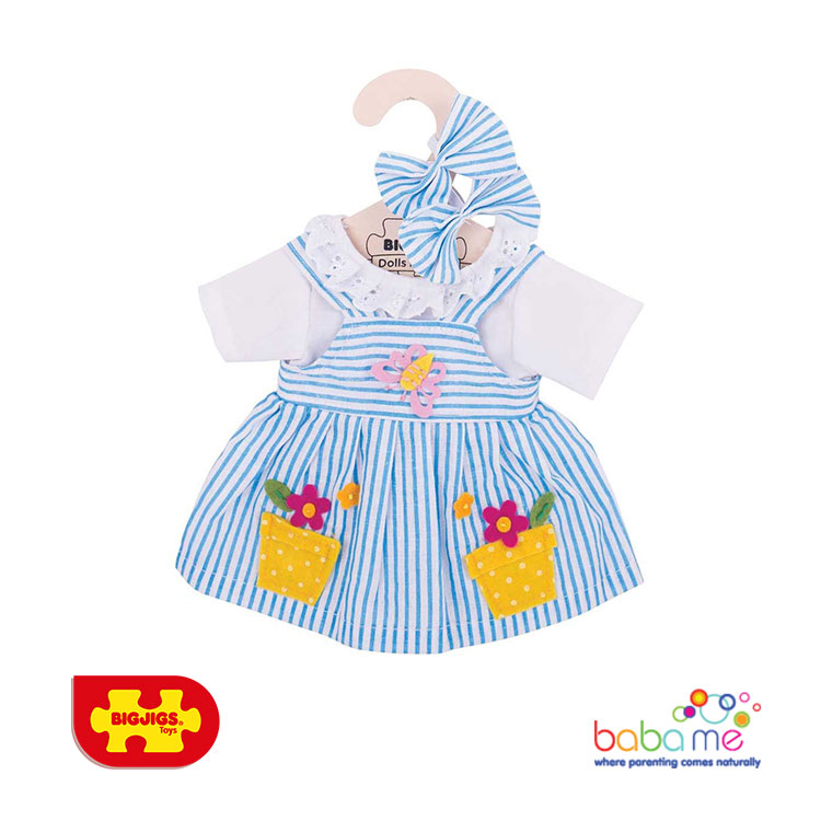 Bigjigs Blue Striped Dress Large