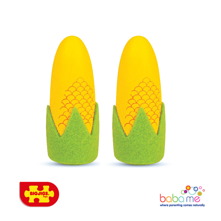 Bigjigs Corn on the Cob Wooden Play Food
