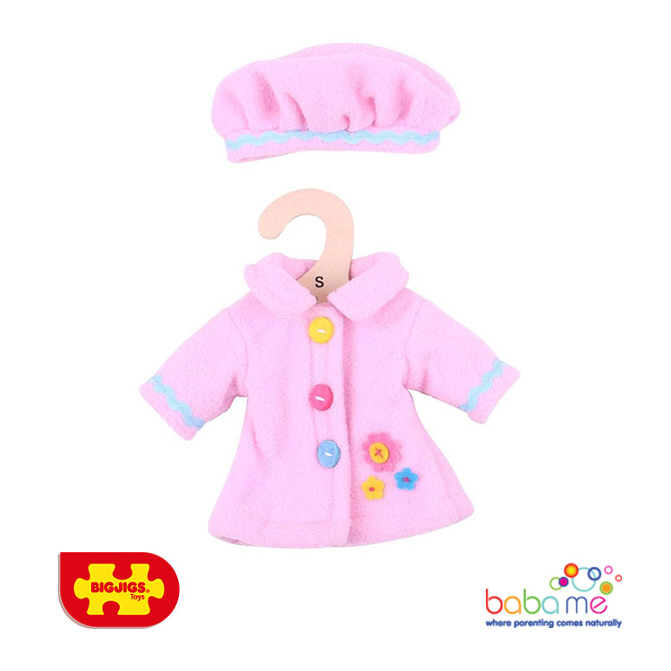 Bigjigs Pink Hat and Coat Small