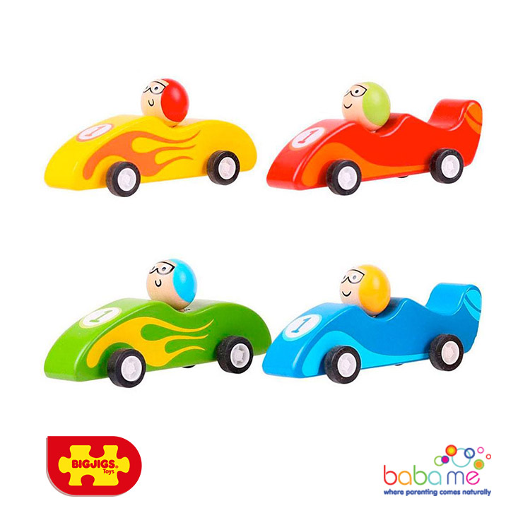 Bigjigs Pull Back - Hot Rods