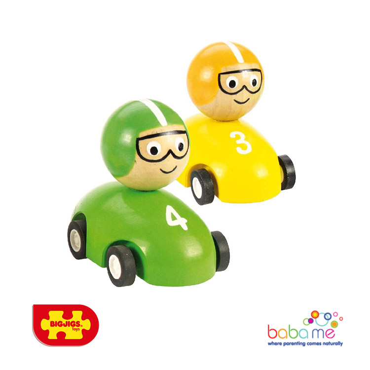 Bigjigs Pull Back Racing Car
