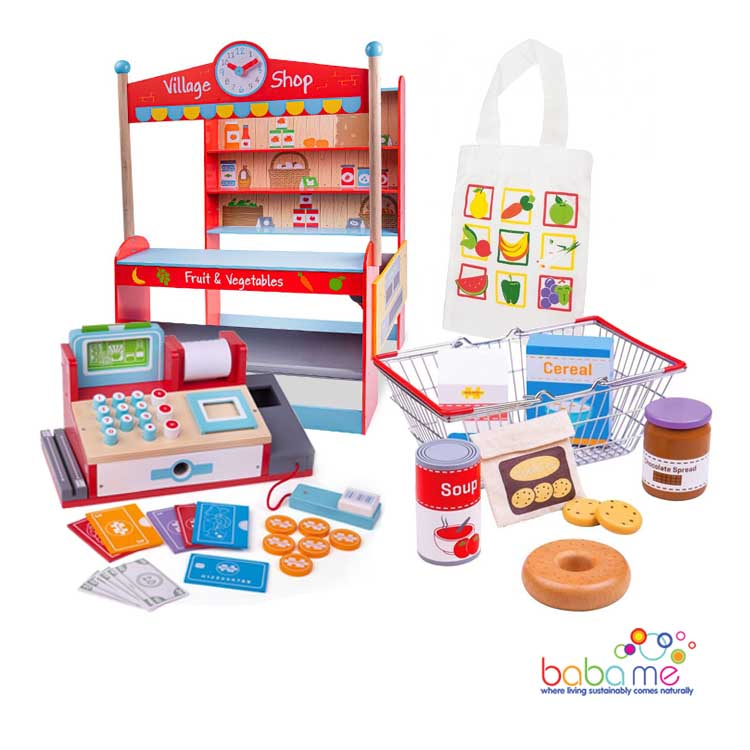 Bigjigs Village Shop Bundle