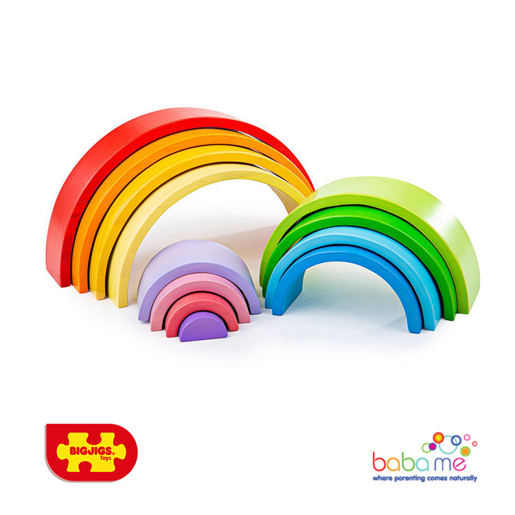 Bigjigs Wooden Stacking Rainbow Large