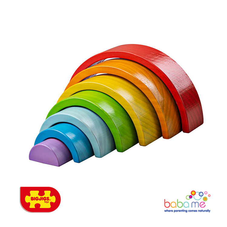 Bigjigs Wooden Stacking Rainbow Small