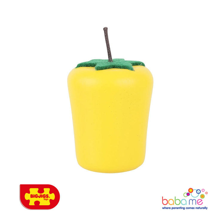 Bigjigs Yellow Pepper Wooden Play Food