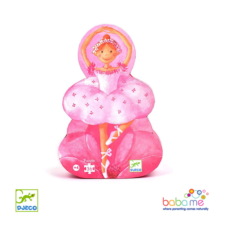 Djeco The ballerina with the flower - 36 pcs