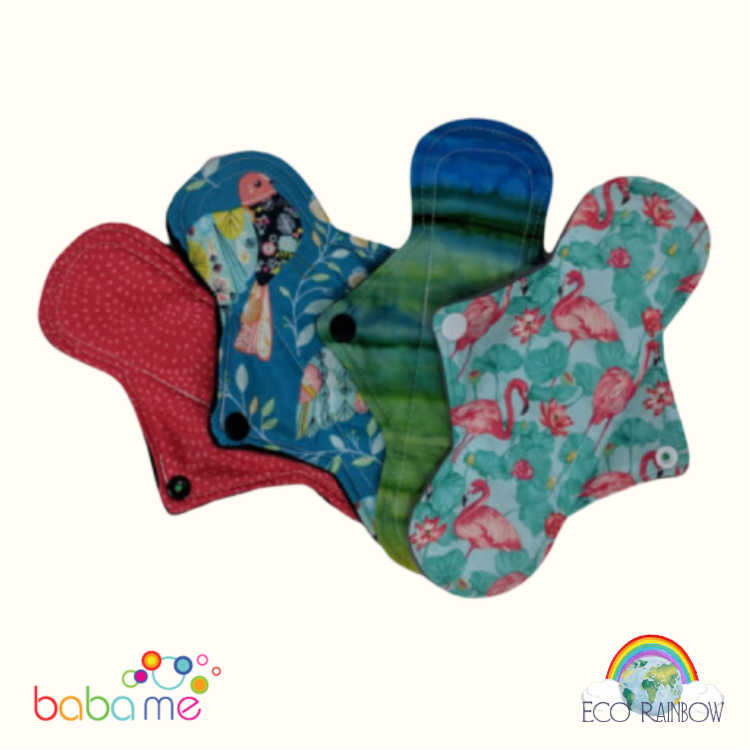 Eco Rainbow Reusable Sanitary Pads Regular Long