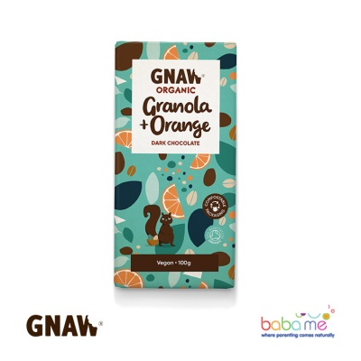 Gnaw Organic Granola & Peanut Milk Chocolate Bar