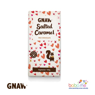 Gnaw Salted Caramel Milk Chocolate Bar