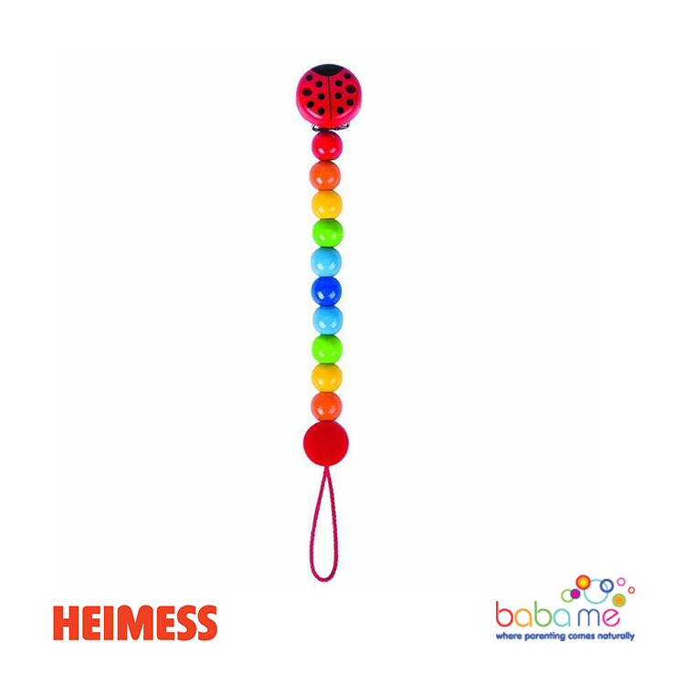 Heimess Soother chain ladybird