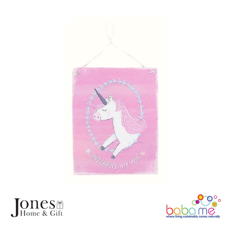 Jones Home & Gift Metal Sign - Unicorns are Real