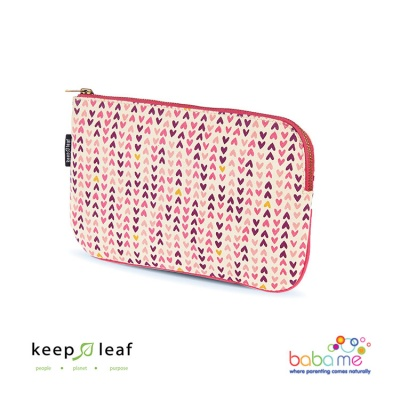 Keep Leaf Toiletry Bag - Hearts