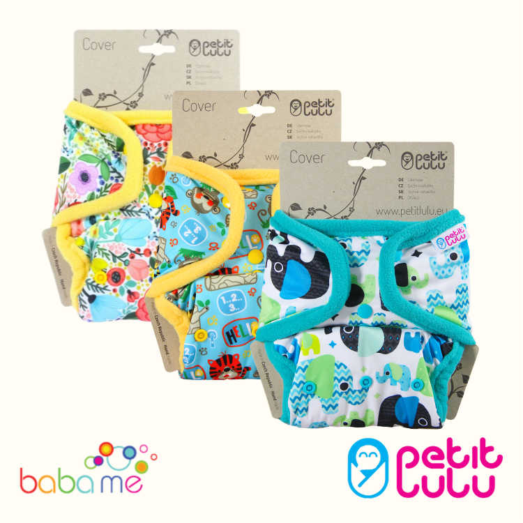 Petit Lulu One Size Real Nappy Covers (Snaps)