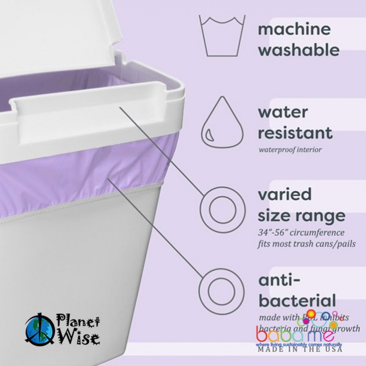 Planet Wise Nappy Pail Liner Woof