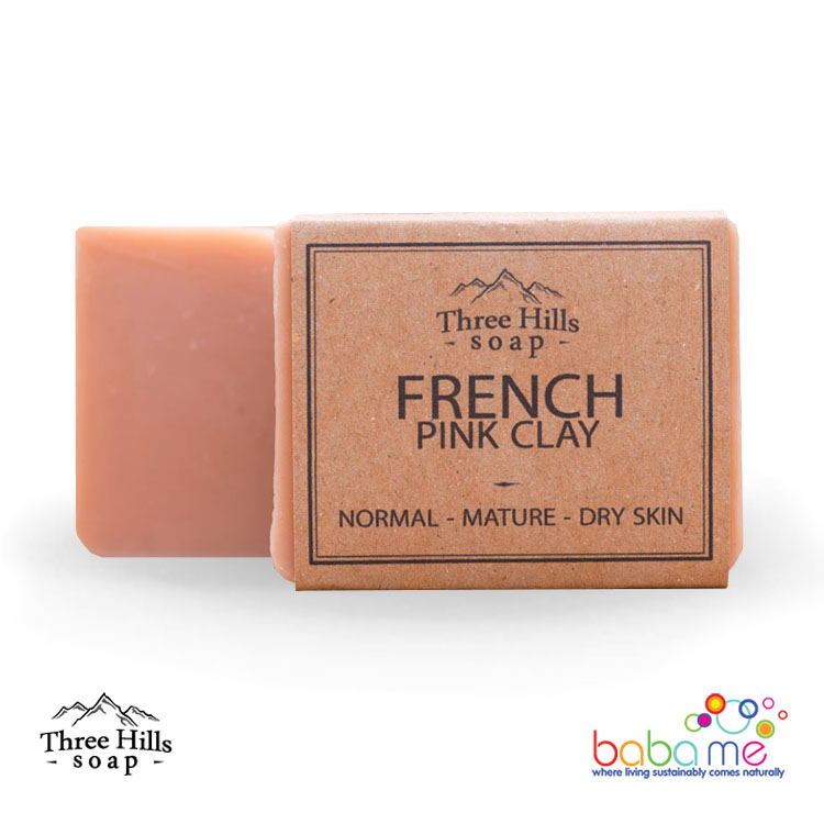 Three Hills Soap French Pink Clay Soap Unscented