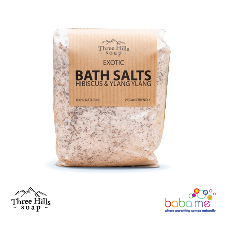 Three Hills Soap Relaxing Bath Salt Hibiscus & Ylang-Ylang