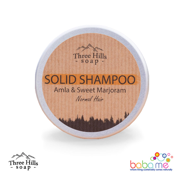 Three Hills Soap Solid Shampoo Amla Normal Hair