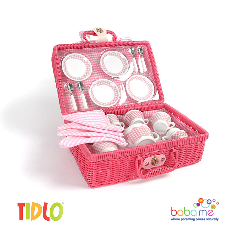 Tidlo Picnic Tea Set in Pink