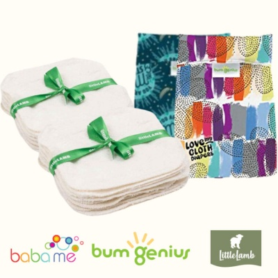 Little Lamb Deluxe Cloth Wipes Kit