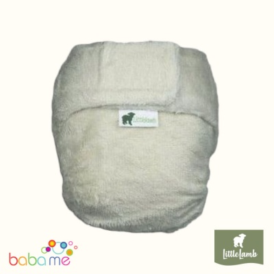 Little Lamb Fitted Bamboo Nappy