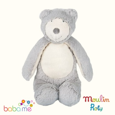 Moulin Roty La Bande a Basile Grey bear doll
