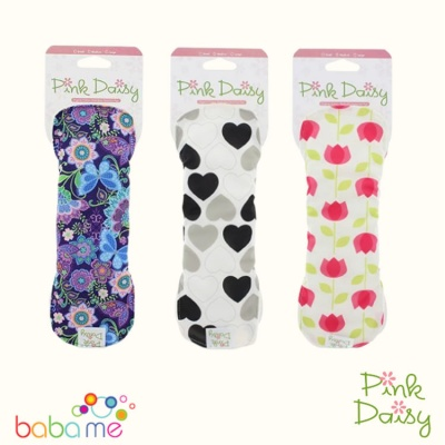 Pink Daisy Stay Dry Menstrual Pads Large