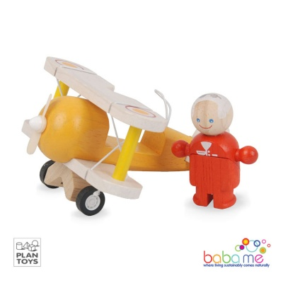 Plan Toys Classic Airplane With Pilot
