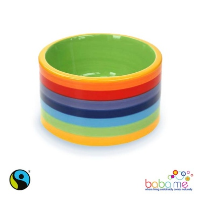Rainbow Dog Bowl