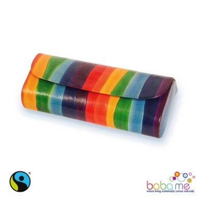 Rainbow spectacles leather case