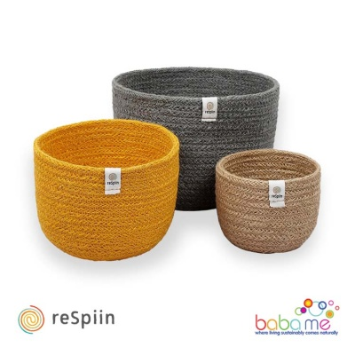 Respiin Tall Jute Basket Set - Beach