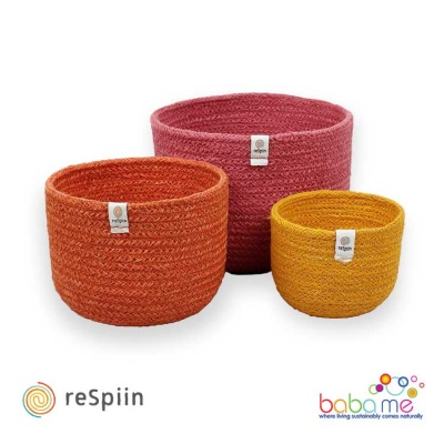 Respiin Tall Jute Basket Set - Fire
