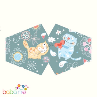 Reusable Child Face Mask Happy Cats
