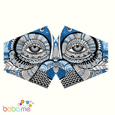 Reusable Fashion Face Mask - Mystical Owl (Adult)